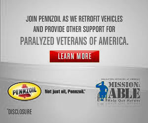 Penzoil Supports Paralyzed Veterans